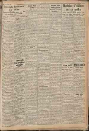 26 Haziran 1941 CUMHURİYET Mecliste heyecanlı bir celse «Muvaffakiyetlerimizin bütün sırrı Millî Şefin etrafında...