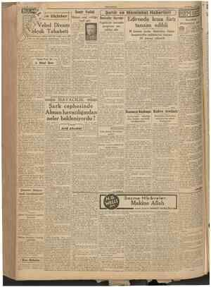 CUMHURÎYET 30 Hazîran 1941 Kitablar ve fikirler Izmit Valisi Birinci sınıf valiliğe terfi etti İzmit (Hususi) Valimi» Ziya
