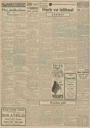 r CUMHURİYET 26 Eylul 1941 Sehir haüerisri Benzin suiistsmali Yazan: İktısadî tetkikler IHEM NALINA MIHINA! Harb tesirlerini,