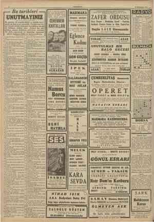 """""""CUMHURİYET 29 Birincitesrîn 1941 ŞAHANE GÜNLERE LÂ1TK ŞAHAKE PROGRAM Büvük rejisör CECILE B. de MJLLE'in varattığı son..."""