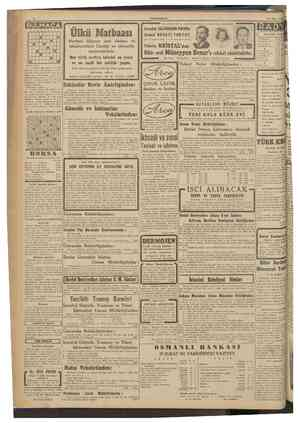 CUMHURİYET 28 Şubat 1942 BULMACA 1 2 3 4 5 6 1 ö 9 İki aydanberi hiç bir yerde musiki zevk ve ihtiyacı tatmin edilemiyordu •