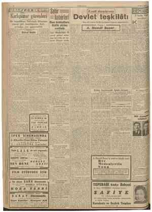 CUMHURITET 28 Mayis 1942 Kırkpınar güreşleri Bir başpehlivan Tekirdağlı Hüseyinin yaptığı gibi kendiliğinden Kırkpmardan vaz