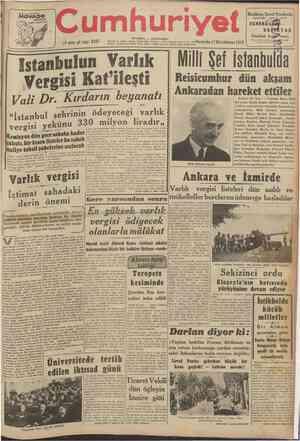 165 BİRİMCİ HÜKÂFAT MOVADO ACVATIC AYARI TAM T !* 8 Cumhuriyet 19 uncu yıl sayı: 6587 İSTANBUL CAĞALOĞLU Telgraf ve mektub