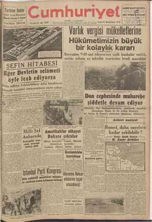 Tarihten Sesler Aylık Tarih Mecmuası Müessisi: İskender F. Sertelli En yüksek kalemlerin iştirakîle YAKINDA ÇIKIYOR umhuriyet