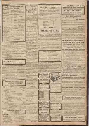 9 İlnncfcamm 1944 CUMKURİiET Maden direği taşıma işi Ereğli Kömürleri Işletmesi Umum Müdürlüğünden: 1 Devlet Orman...