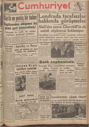 umhuri 21 inci yıl Sayı: 7092 ÎSTANBUL ~ CAĞALOĞLU Telgraf ve mektub adresi: Cumhuriyet, İstanbul Posta kutusu: îstanbul No.