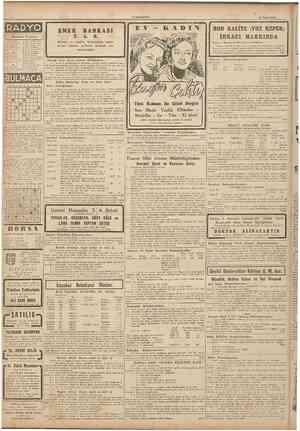 "CUMHURIYET 25 Nisan 1945 c 12.20 12.•'•>'< 12.15 i::.uii i:!.jı ı 17.5~ ]~.O(» RADYO Bugünkü Program ""^ 1~.15 Salon orkes."