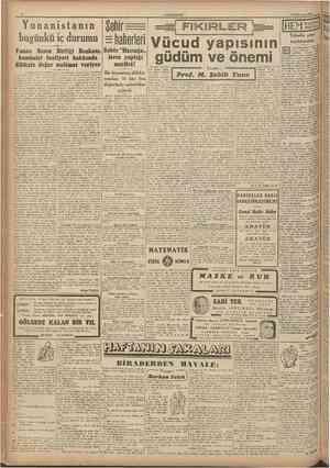 """CUMHURİYET 15 Temmuz 194S haberleri Vücud yapısının Yunan Basııt Birliği Başkanı, Sahte """"Hacıağa,, komfinist faaliyeti..."""