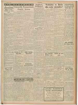 """S Şubat 1946 ~"""" """" İngiltere JXuasthmd I Güvenlik Konseyinde ile Rusya arasındaki asıl mesele nedir ? dedikleri dünkü fırtına"""