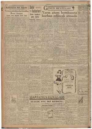 CUMHURÎTET 30 Haziran 1948 j Kaybettiğimiz Milîi Pcğerlcr !!'!!!:!«!!! ilHÜFl'liiüül'.lMIMü'IJIIIlHIKIIIIIllUllHI Terbiye...