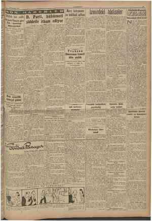 9 Temmuz 1946 CUMHURÎYET Silâhh bir sulh Nevyork Times'e göre Rus Âmerikan münasebetleri D. Parti, hükumeti şiddetle itham