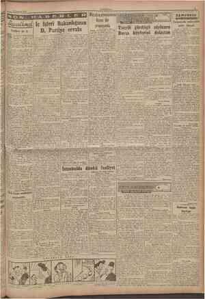 12 Temmuz 1946 CUMHURIYET Tehlikeli hir iş D. Partiye cevabı Işleri Bakankğıiiin H ig ağza ahnmaması lâzım bir Başmakaleden