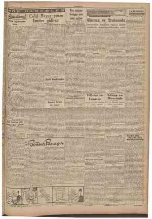 14 Temmuz 1940 CUMHURİYET ^ Ba^makaleden devam bn mektnbların dıç siyaset meselele. rine t e m u ettiğini belirtiyormuş.» •
