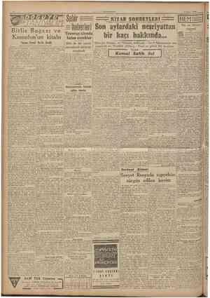 »CUMHURIYET 2 Agustos 1948 TANlVALIti îtlis ısogazı ve Ksenofon'un kitabı Yazan: İsmail Habib Seviik Siirddentotuz küsur...