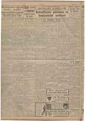 CUMHURÎYET 13 Ağustos 1946 Meclis komisyonlarına kimler seçildi? KomisyoıılarNeclisiıt içtımaından sonra toplaııarak başkaıt