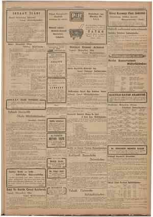 27 Ağustos 1946 İNSAAT İLANI Ereğli Kömürleri İşletmesî Genel • Müdürlüğünden: 1 îşletmenin Zonguldakta yaptıracağı Merkez
