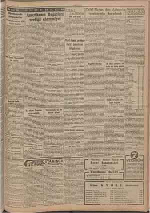 11 mart 1947 CUMHURÎYET Jrl A O E Amerikanm Bağazlara verıüği ehemmiyet Oîenîerin sayısı 1036 Hhtdistaıtda çarpışmalar kişiyî