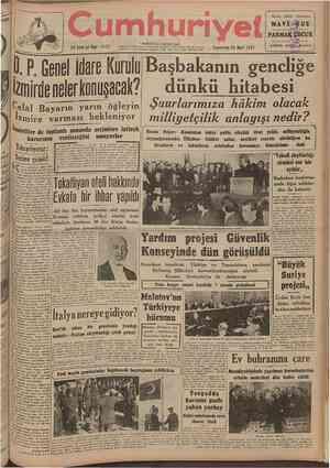umhuriyet 23 Ü I I C U Yll Sâjfl! 8 1 2 3 Telgraf ve mektub adresi: Cumhuriyet, İstanbul Posta kutusu: Istanbul No. 246...