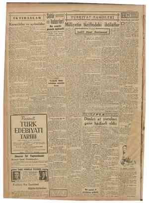 CLMHl KliKI 1 Eylui 1947 İKTIBASLAR TURKIYAT BAHISLERI II İHEM NALINA MIHINA Karanhklar ve aydınlıklar Zlflrl karanbk dört