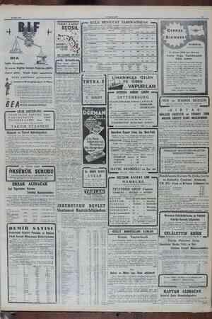 v Mart 1950 cumncmyez y .— KULA MENSUCAT FABRIKASİNDAN -— AmabriR eati yaziı dizel v ve dnmenoler Kulu çe lli ——— TABLET ve