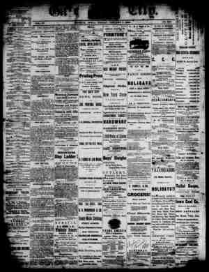 The Daily Gate City Gazetesi 1 Ocak 1869 kapağı