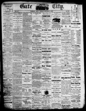 The Daily Gate City Gazetesi 3 Ocak 1869 kapağı
