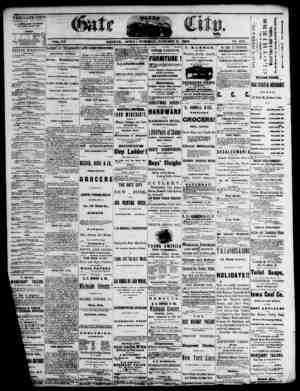 The Daily Gate City Gazetesi 5 Ocak 1869 kapağı