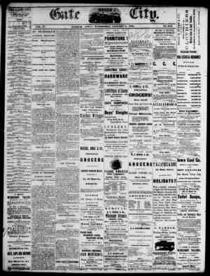 The Daily Gate City Gazetesi 6 Ocak 1869 kapağı