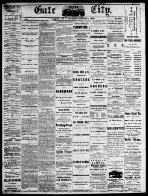 The Daily Gate City Gazetesi 7 Ocak 1869 kapağı