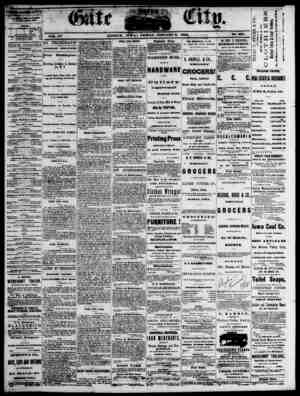 The Daily Gate City Gazetesi 8 Ocak 1869 kapağı