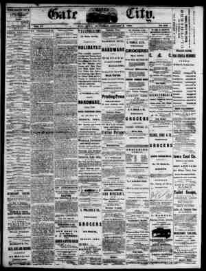 The Daily Gate City Gazetesi 9 Ocak 1869 kapağı