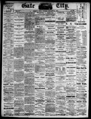 The Daily Gate City Gazetesi 10 Ocak 1869 kapağı