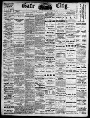 The Daily Gate City Gazetesi 12 Ocak 1869 kapağı