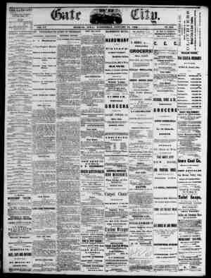 The Daily Gate City Gazetesi 13 Ocak 1869 kapağı