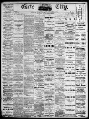 The Daily Gate City Gazetesi 14 Ocak 1869 kapağı