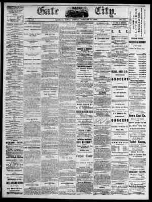 The Daily Gate City Gazetesi 15 Ocak 1869 kapağı