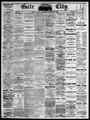 The Daily Gate City Gazetesi 16 Ocak 1869 kapağı
