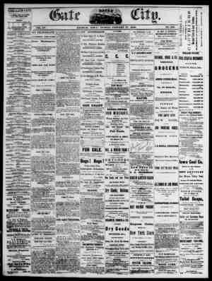 The Daily Gate City Gazetesi 17 Ocak 1869 kapağı