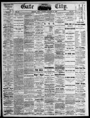 The Daily Gate City Gazetesi 19 Ocak 1869 kapağı