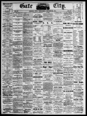 The Daily Gate City Gazetesi 20 Ocak 1869 kapağı