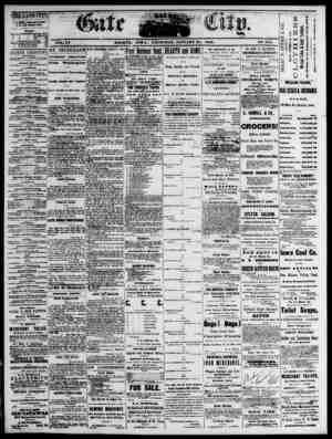 The Daily Gate City Gazetesi 21 Ocak 1869 kapağı
