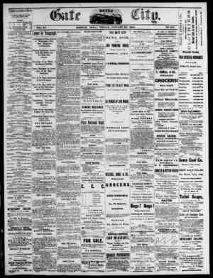 The Daily Gate City Gazetesi 22 Ocak 1869 kapağı