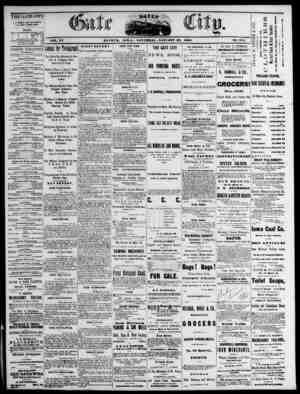 The Daily Gate City Gazetesi 23 Ocak 1869 kapağı