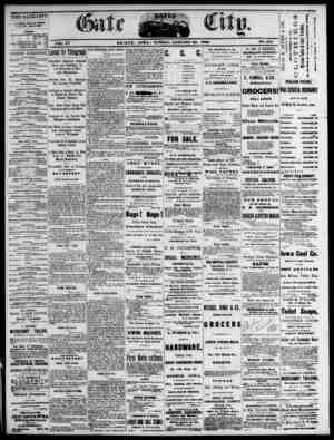 The Daily Gate City Gazetesi 24 Ocak 1869 kapağı