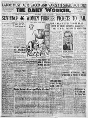 The Daily Worker Gazetesi 1 Temmuz 1927 kapağı