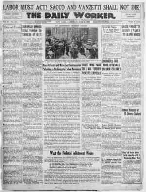 The Daily Worker Gazetesi 2 Temmuz 1927 kapağı