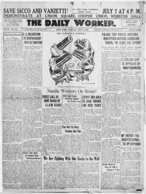 The Daily Worker Gazetesi 5 Temmuz 1927 kapağı
