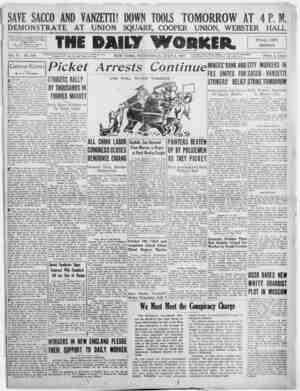 The Daily Worker Gazetesi 6 Temmuz 1927 kapağı