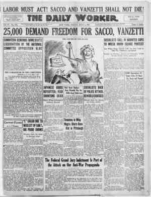 The Daily Worker Gazetesi 8 Temmuz 1927 kapağı