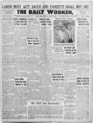 The Daily Worker Gazetesi 11 Temmuz 1927 kapağı